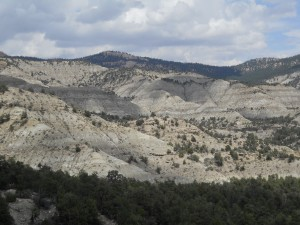 Exposures of the Kaiparowits Formation within Grand Staircase-Escalante National Monument. Alf Museum photo.